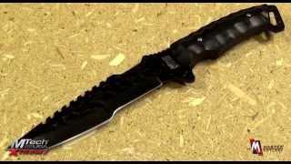 getlinkyoutube.com-MTech Xtreme MX-8062BK Tactical Fixed Blade Knife Product Video