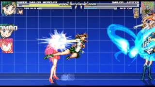 getlinkyoutube.com-Super Sailor Mercury,Mars vs Sailor Jupiter,Venus (MUGEN)