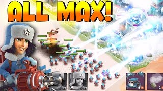 getlinkyoutube.com-Boom Beach - ALL MAX CRYONEERS vs Dr T!! All New Troop Cryoneer Attack Gameplay!