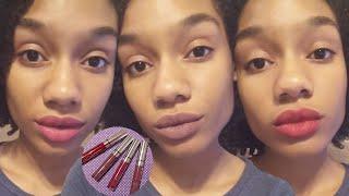 getlinkyoutube.com-New Colourpop Ultra Matte Lip Swatches | Kimberlyn XO