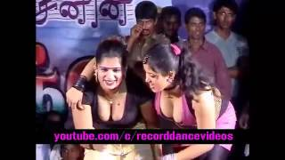 Latest Tamil Village record dance open stage 2016   New Adal Padal 01