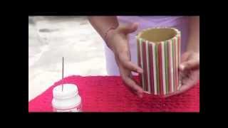 getlinkyoutube.com-Membuat Tempat Pensil dari Pipet - (KLP 6 BG-D)