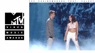 getlinkyoutube.com-The Chainsmokers - Closer (Live from the 2016 MTV VMAs) ft. Halsey