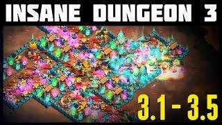 getlinkyoutube.com-Castle Clash: Insane Dungeon 3-1 to 3-5