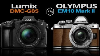 getlinkyoutube.com-Panasonic Lumix G85 (Lumix G80) vs Olympus OMD EM10 Mark II