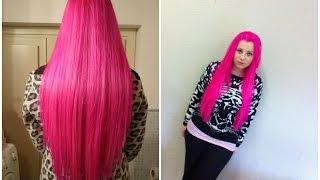getlinkyoutube.com-HO I CAPELLI TUTTI ROSA! Come fare i capelli tutti rosa|tinte la riche directions