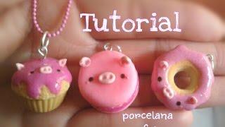 getlinkyoutube.com-Dona, cupcake, macaron KaWaii tutorial PORCELANA F