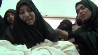 getlinkyoutube.com-فاجعة ام الشهيد فاضل عباس لمشاهدتها ابنها على المغتسل وانهيارها بالبكاء BAHRAIN#