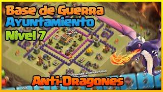 getlinkyoutube.com-Base de Guerra Ayuntamiento 7 | Anti-Dragones | Clash of Clans ESPAÑOL