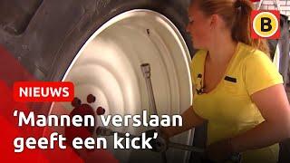 getlinkyoutube.com-Trekkertrek chick Inge Jochems naar NK tractor pulling