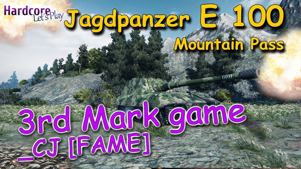 WOT  Rare in randoms because of reasons  Jagdpanzer E 100  CJ  FAME  3rd Mark game  WORLD OF TANKS