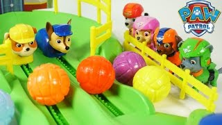 getlinkyoutube.com-PAW PATROL GAME PUP RACERS ADVENTURE BAY AIR RESCUE CHASE RUBBLE ROCKEY MARSHALL SKYE TOYS