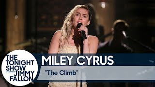 "Miley Cyrus Closes The Tonight Show with ""The Climb"""