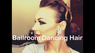 getlinkyoutube.com-Ballroom Dancing hair tutorial- Rachel Maree Macintosh V.1