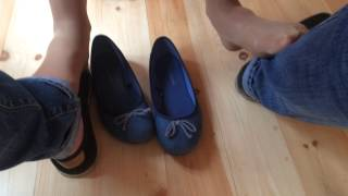 getlinkyoutube.com-Shoeplay and footsie under the table in summer cafe