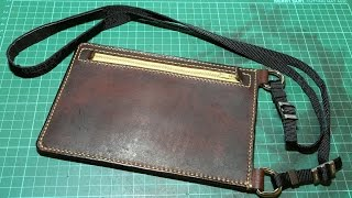 getlinkyoutube.com-Making a Leather Travel Security Pouch