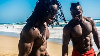 getlinkyoutube.com-African Beasts Alseny and Sekou @ Huntington Beach W/ Strength Project