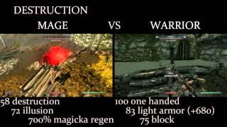 getlinkyoutube.com-Skyrim - Mage vs. Warrior comparison /w commentary