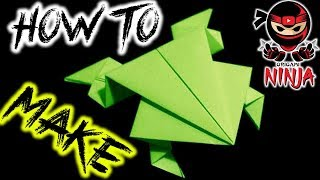 getlinkyoutube.com-How To Fold: Origami Jumping Frog