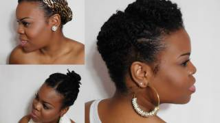 getlinkyoutube.com-5 Ways To Wear Your Twists:: Protective Hairstyles For Colder Months (Natural Hair) - SimplYounique