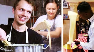 Re-Creating the Cheesiest French Potato Dish (Aligot) width=