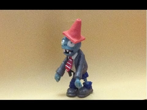 Tutorial ZOMBIE plants vs zombies (plastilina/ porcelana fri