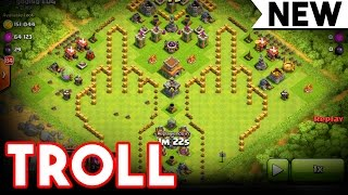 getlinkyoutube.com-TROLL BASE  - RUDE  - Clash of Clans -  RAIDING A RUDE TROLL