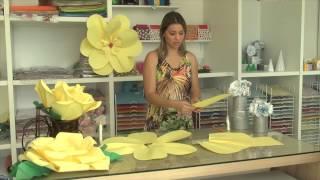getlinkyoutube.com-Rosas Gigantes de Papel - como fazer