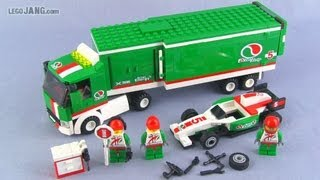 getlinkyoutube.com-LEGO City Grand Prix Truck 60025 set build & review!