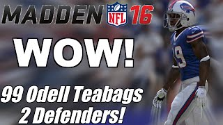 getlinkyoutube.com-WOW! 99 Odell Teabags 2 Defenders In 50k Coin Game | Madden 16 Ultimate Team Gameplay
