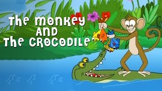 getlinkyoutube.com-The Monkey And The Crocodile Story | Grandpa Stories | English Moral Stories For Kids