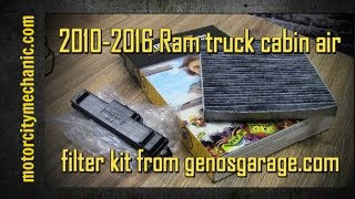 2010-2016 Ram truck cabin air filter kit from genosgarage.com