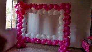 getlinkyoutube.com-Photocall realizado con globos