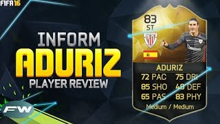 getlinkyoutube.com-FIFA 16 IF ADURIZ Review (83) w/ In Game Stats & Gameplay