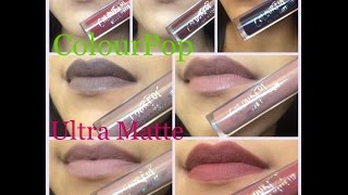getlinkyoutube.com-New Shades ColourPop Ultra Matte Liquid Lipsticks+Lip swatches