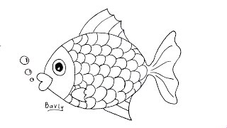 getlinkyoutube.com-تعليم الرسم للاطفال   كيف ترسم سمكة خطوة بخطوة للمبتدئين