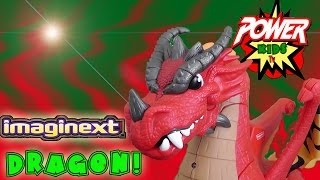 getlinkyoutube.com-DRAGON! Imaginext dragon toy review by Power Kids Tv