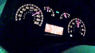 getlinkyoutube.com-Fiat Panda 1.3JTD 0-170 km/h acceleration - tacho video