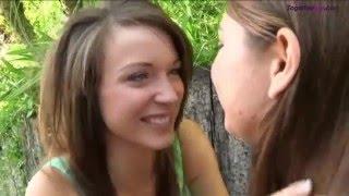 Romantic lesbian kisses