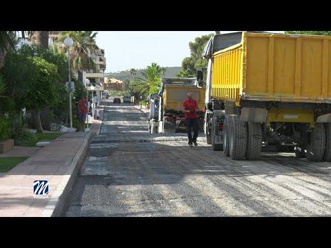 Asfaltado de la calle Manuel de Falla