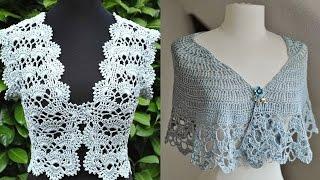 getlinkyoutube.com-Boleros - Tejidos a Crochet ( Diseños )