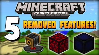 getlinkyoutube.com-✔ Minecraft PE - 5 Features Removed from Pocket Edition