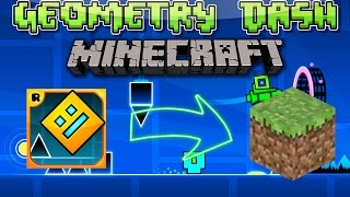 getlinkyoutube.com-MAPA MINECRAFT - GEOMETRY DASH EN MINECRAFT - Descargar Mapa Para Minecraft Geometry Dash Vanilla