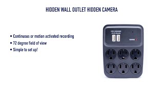 getlinkyoutube.com-Hidden Wall Outlet Hidden Camera from GadgetsAndGear.com