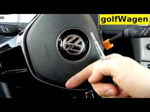VW Golf 7 steering wheel removal Golf 7 airbag removal