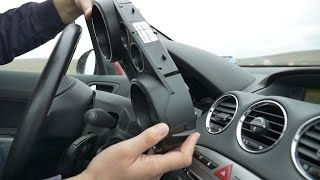 getlinkyoutube.com-Peugeot 308 Instrument panel cluster removal and refitting