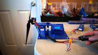 getlinkyoutube.com-Demonstration and Mini Review of the Turnigy Thrust Measuring Stand