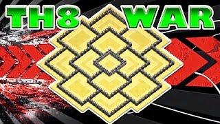 getlinkyoutube.com-BEST TH8 WAR BASE OF 2016! (YOUTUBER BASE) | Clash of Clans