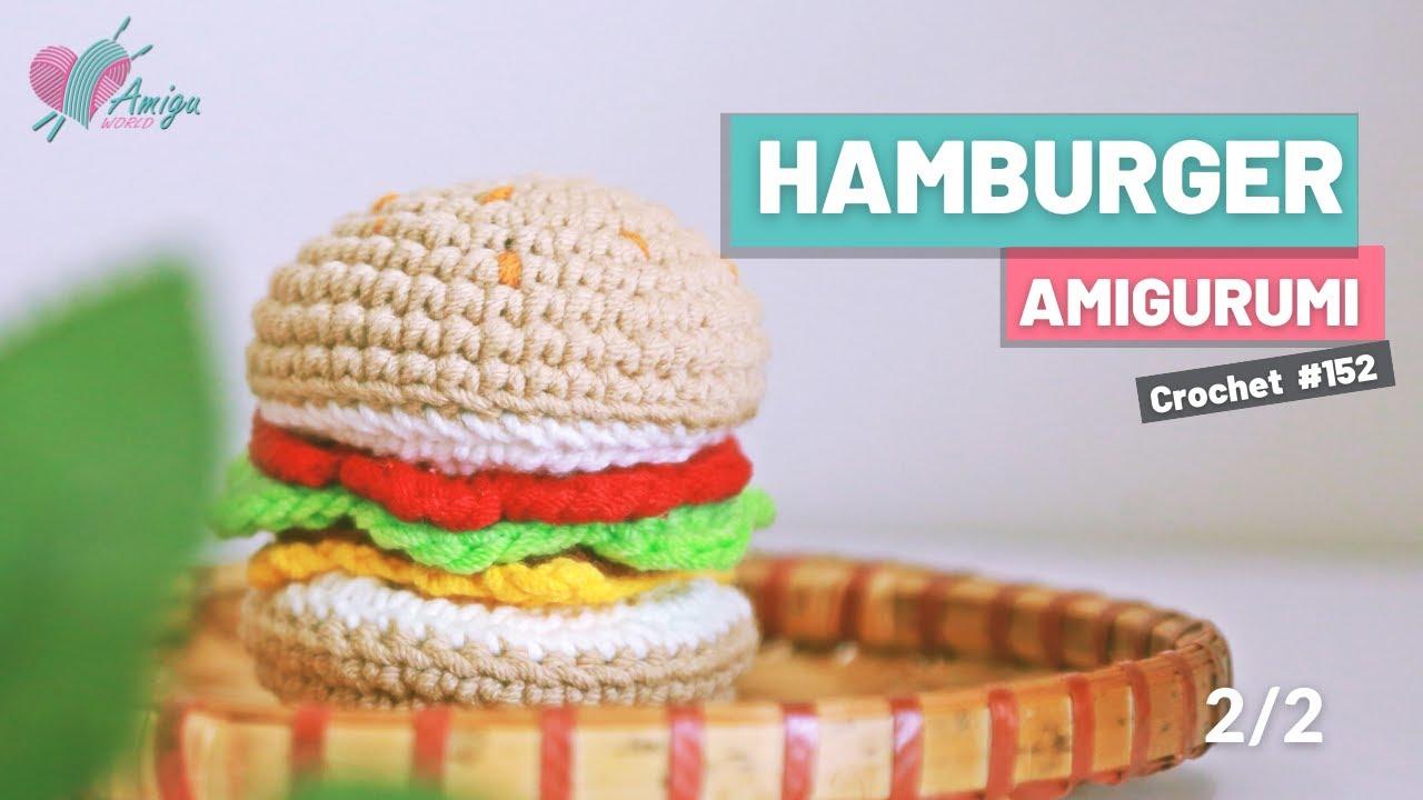 Bánh Hamburger bằng len (P.2)