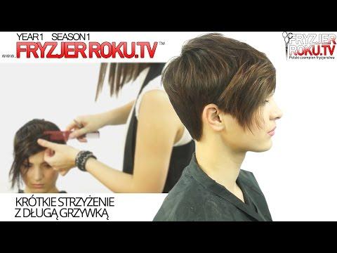 Krótkie strzyżenie z grzywką długie. HOW TO: short haircut FryzjerRoku.tv